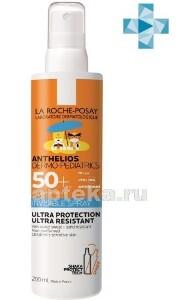 Купить Anthelios dermo-pediatrics спрей солнцезащитный детский невидимый для лица и тела spf 50+ 200мл цена
