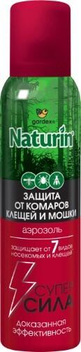Naturin суперсила аэрозоль от комаров клещей и мошки 150мл