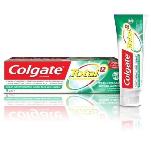 Купить Total 12 профессиональная чистка гель зубная паста 75мл цена