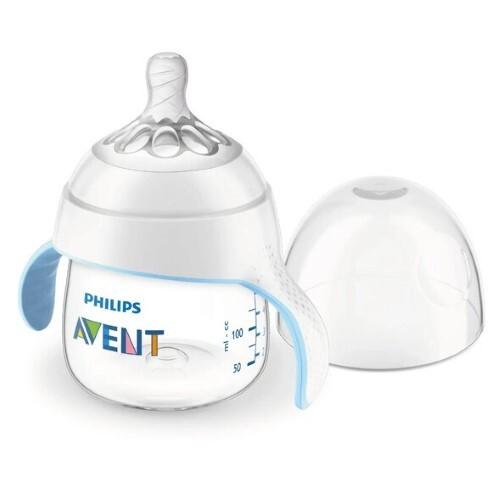 Купить Avent бутылочка с кольцом с ручками и защитным колпачком 150мл/natural/scf262/06 цена