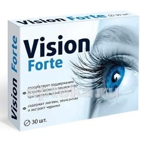 Купить Vision forte комплекс с лютеином зеаксантином и экстрактом черники цена