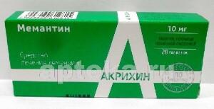 Мемантин 0,01 n28 табл п/плен/оболоч/акрихин/