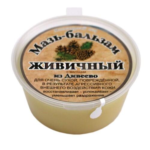 Купить Мазь-бальзам живичный для очень сухой повреждённой в результате агрессивного внешнего воздействия кожи с маслами из дивеево 50мл цена