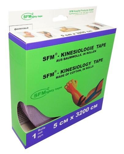 Купить Лента кинезиологическая sfm-plaster на хлопковой основе в рулоне 5х3200см n1/фиолетовый/кинезио тейп цена