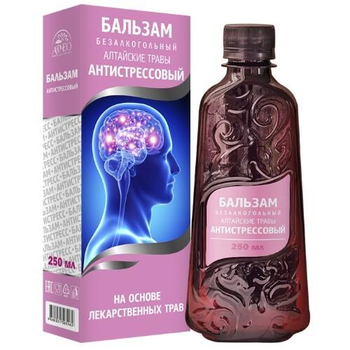 Алтайские травы антистрессовый бальзам безалкогольный
