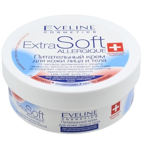Купить Extra soft allergique питательный крем для чувствительной и склонной к аллергическим реакциям кожи 200мл цена
