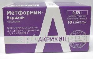 Купить Метформин-акрихин цена