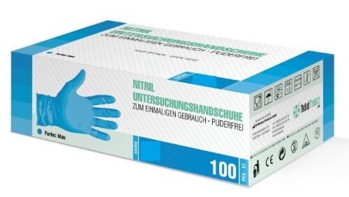 Купить Перчатки диагностические sf gloves нитриловые нестерильные неопудренные n50 пар s/синий цена
