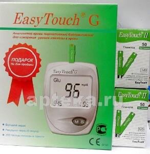 Купить Тест-полоски easy touch глюкоза n50x2+глюкометр easy touch g цена