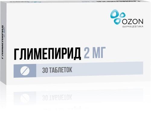 Купить ГЛИМЕПИРИД 0,002 N30 ТАБЛ /ОЗОН/ цена