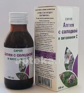Купить Сироп алтея с солодкой и витамином c цена