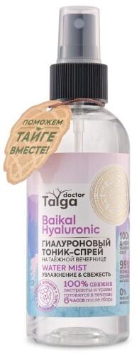 Купить Doctor taiga тоник-спрей гиалуроновый увлажнение & свежесть 170мл цена