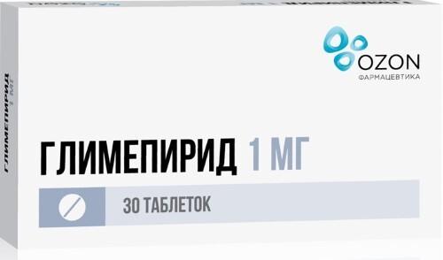 Купить ГЛИМЕПИРИД 0,001 N30 ТАБЛ /ОЗОН/ цена