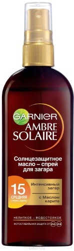 Ambre solaire масло-спрей для загара с маслом карите spf 15 150мл