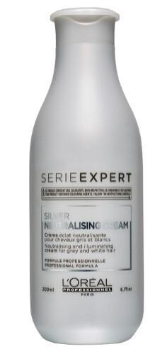 Купить Loreal professionnel serie expert silver крем смываемый (кондиционер) для блеска седых и обесцвеченных волос 200мл цена