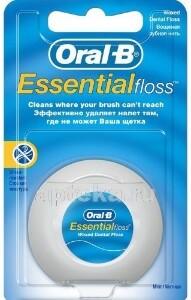 Купить Зубная нить essential floss вощеная мятный вкус 50м цена