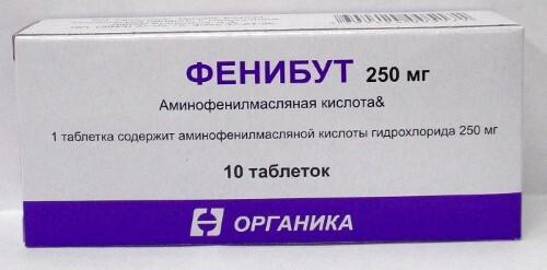 Купить Фенибут 0,25 n10 табл /органика/ цена