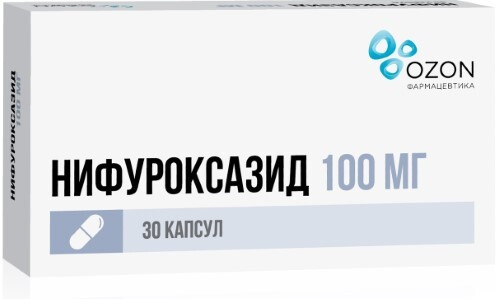 Купить НИФУРОКСАЗИД 0,1 N30 КАПС /ОЗОН/ цена