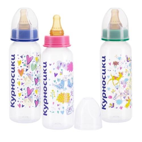 Бутылочка полипропиленовая с латексной соской 0+ 250мл /11088