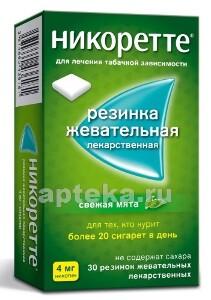 Купить Никоретте 0,004 n15x2 жев резинка/свежая мята/ цена