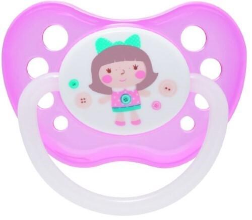 Купить Соска-пустышка латексная toys 0-6 розовый цена