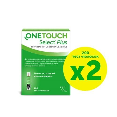 Набор тест-полоски one touch select plus №100 из 2 уп со скидкой 10%
