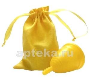 Купить Менструальная чаша серия лен размер l/желтая цена