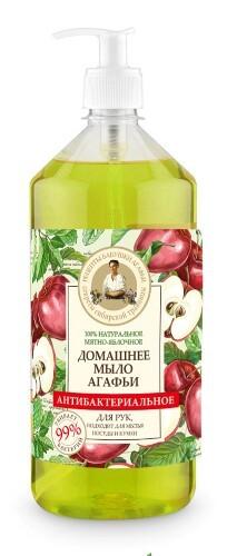 Купить Антибактериальное мыло 100% натуральное домашнее мятно-яблочное 1000мл цена