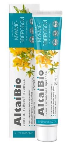 Купить Алтайбио зубная паста мумиё-зверобой комплексный уход 75мл цена