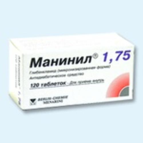 Купить Манинил 1,75 цена