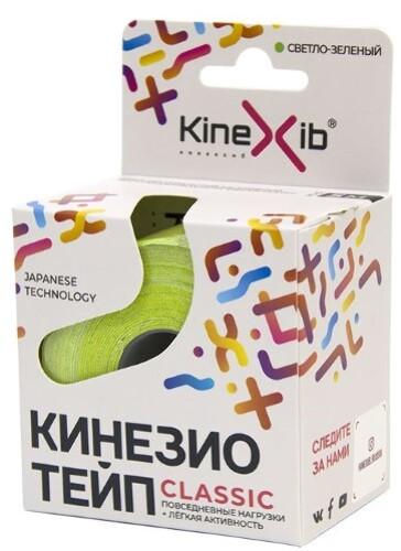 Бинт нестерильный адгезивный восстанавливающий kinexib classic светло-зеленый 5смx5м /кинезио тейп/