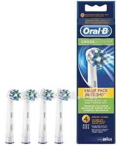 Купить Насадка сменная для электрических зубных щеток cross action eb50-4 n4 цена