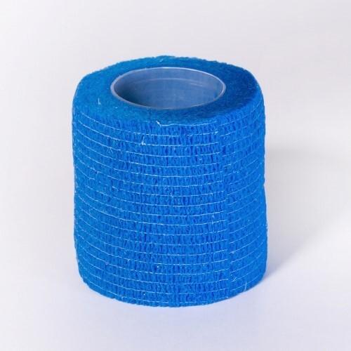 Бинт медицинский эластичный компрессионный самофиксирующийся em-fix krep 5смх4,5м /синий