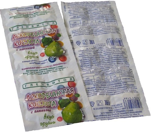 Купить Аскорбин кислота+ глюкоза со вкусом груши цена