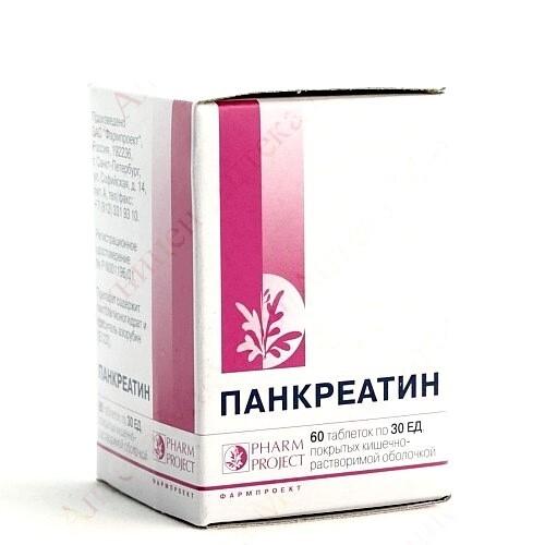 Купить Панкреатин 30ед n60 табл п/кишеч/оболоч/фл/ фармпроект/ цена