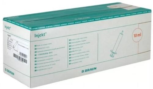 Шприц инжект 10мл 2-х компонентный с приложенной иглой 21g n100/bb/