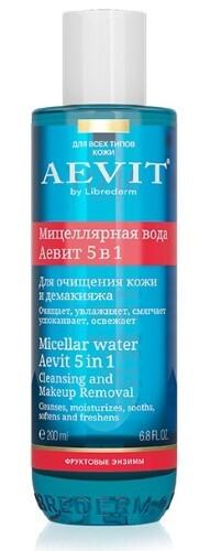 Купить Vitamins aevit аевит мицеллярная вода для очищения и демакияжа 5 в 1 200мл цена