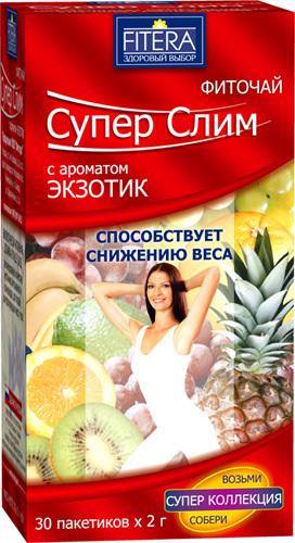Купить Фиточай супер слим экзот фрукты цена