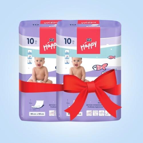 Купить Набор bella baby happy пеленка гигиен 60х90см д/дет n10 из 2-х уп по специальной цене цена