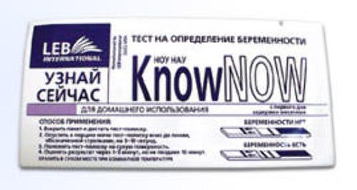 Тест для определения беременности know now /блистер