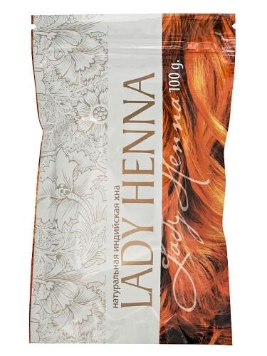 Купить Lady henna хна натуральная 100,0 цена