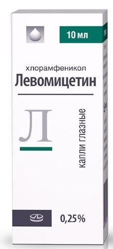 Купить ЛЕВОМИЦЕТИН 0,25% КАПЛИ ГЛАЗ 10МЛ ФЛАК/КАП /ЛЕККО цена