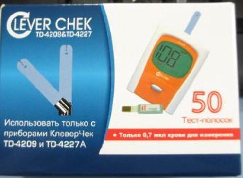 Тест-полоски клевер чек td-4227/td-4209 n50