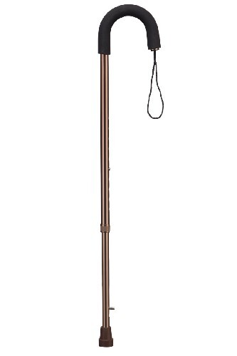 Трость wr-413 с мягкой полукруглой ручкой и ремешком с встроенным п/гололедным устройством