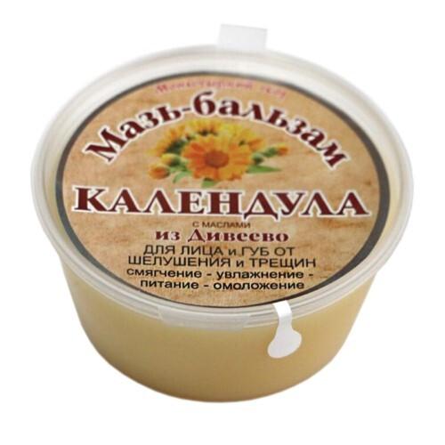 Купить Мазь-бальзам календула для лица и губ от шелушения и трещин с маслами из дивеево 50мл цена