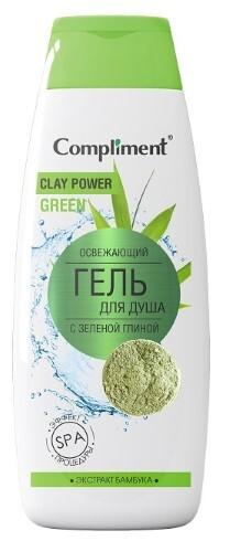 Купить Гель для душа освежающий с зеленой глиной 400мл цена