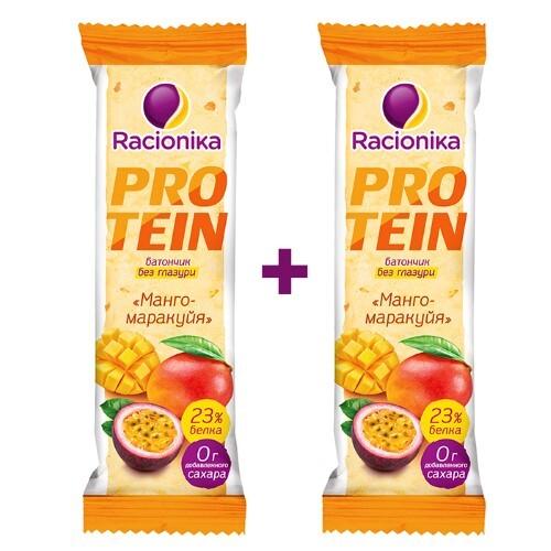 Купить Набор рационика protein батончик со вкусом манго-маракуйя 45,0 закажи 2 уп. со скидкой 15% цена