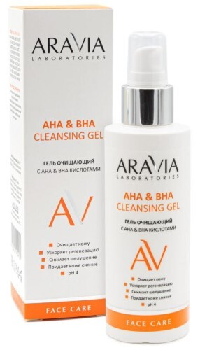Купить ARAVIA LABORATORIES ГЕЛЬ ОЧИЩАЮЩИЙ С AHA&BHA КИСЛОТАМИ  AHA&BHA CLEANSING GEL 150МЛ цена