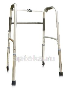 Купить Ходунки-опора amw1b72 жесткие с одним замком на 2 опорах и 2 колесах (75мм) цена