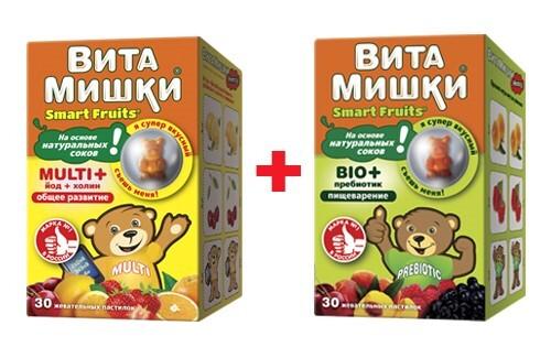 "Купить Набор ""витамишки multi+йод+холин n30 жев пастил и витамишки bio+пребиотик n30 жев  пастил"" со скидкой цена"